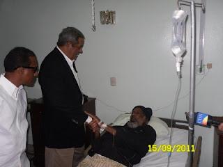 Dirigentes de partidos políticos visitan a Juan Hubieres