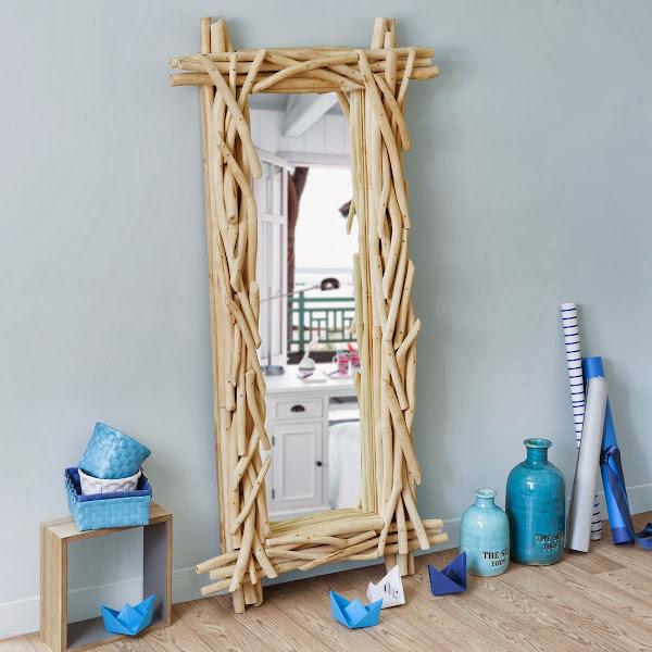 Como hacer marco de espejo decorar tu casa es - Hacer marcos para espejos ...