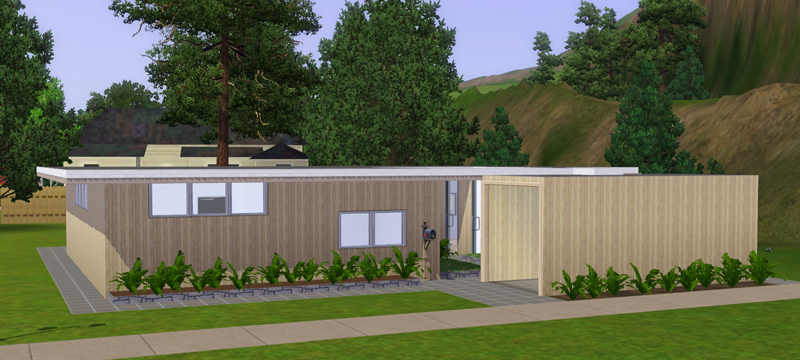 My sims 3 blog mid century 4 bedroom home by macthekat for Sims 3 6 bedroom house