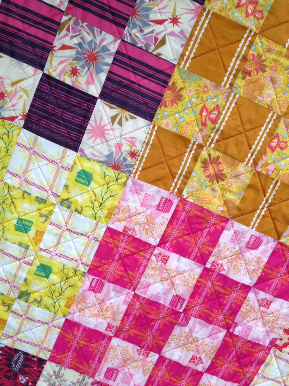 Lily 39 s quilts st louis16 patch quilt for sale for Quilts for sale