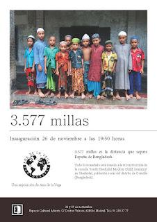 Invitación a la Exposición solidaria 5.377 Millas de Ana de la Vega