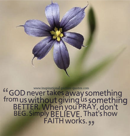 Faith In God Picture Quote