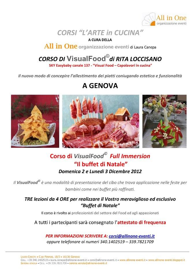 All in one organizzazione eventi corsi di visual food con - Corsi di cucina genova ...