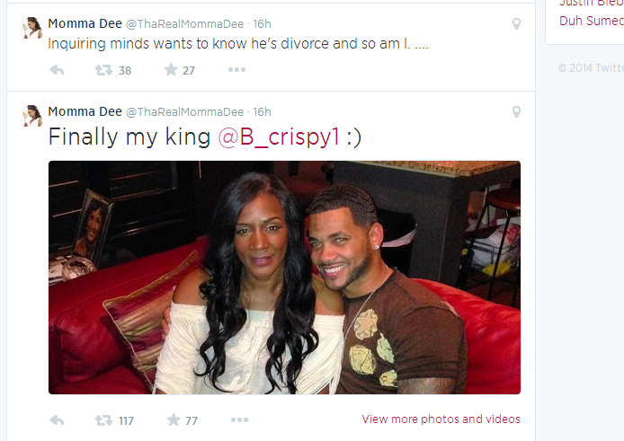 momma dee dating brian This guy sure has a typebrian mckee denies dating momma dee because he's still legally marriedare they a couple or not inquiring minds are confused about the nature of momma dee and brian mckee's relationship, but the.