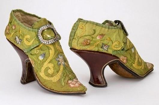 Los primeros zapatos de tacón los lucía la aristocracia europea