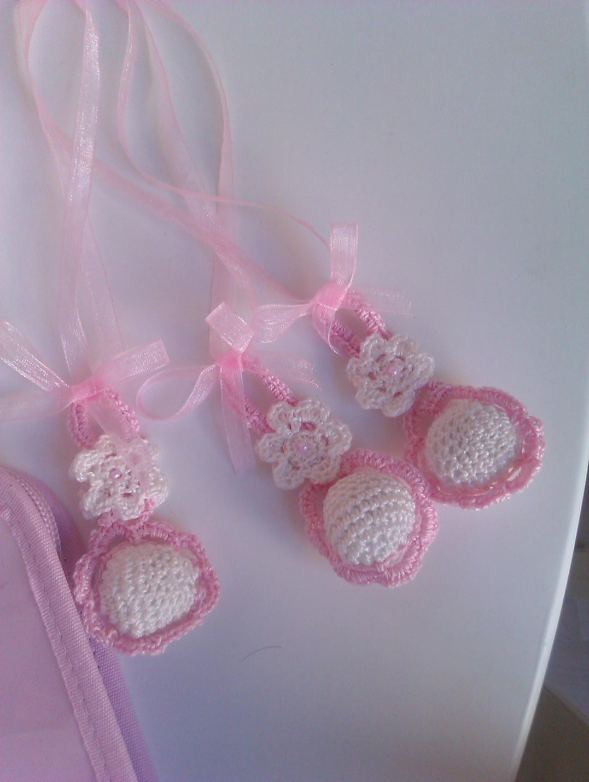 Lazos beb s para el carro la cuna sonajeros de crochet - Como hacer cosas de ganchillo ...