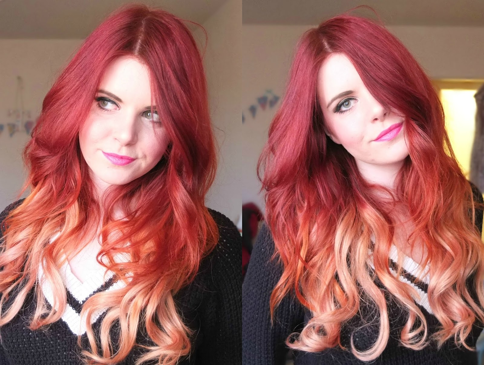 dirty looks hair extensions review for red ombre hair