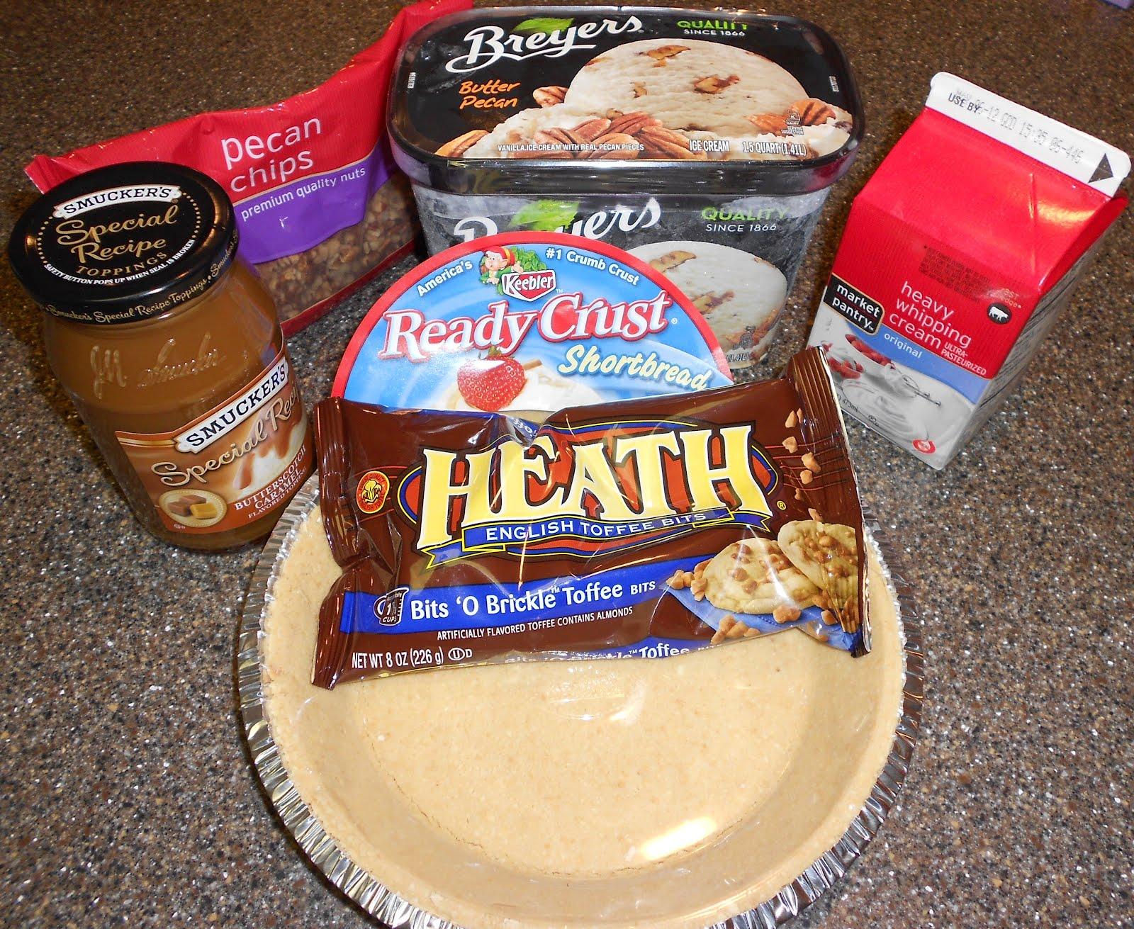 Baking Banquet: Butter Brickle and Pecan Ice Cream Pie