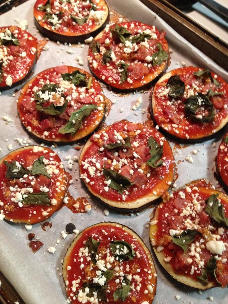 Gluten Free Eggplant Mini Pizzas