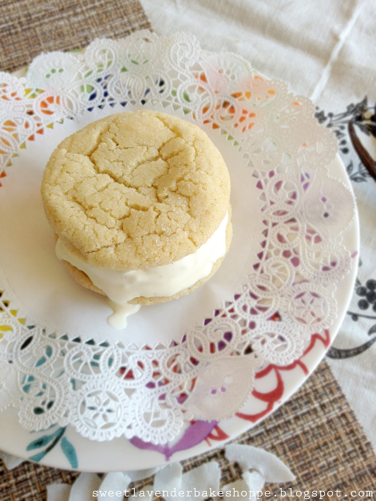 ... : coconut ice cream sandwiches + part 3 of ice cream sandwich week