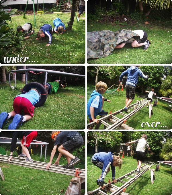 Wild Backyard Party : Mr G created the obstacle course and did a fab job, using rope, old