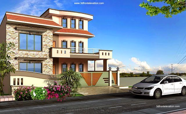 8 Marla Home Front Elevation : Casatreschic interior pakistan kanal marla plan d