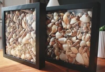 Cosas de palmichula el sonido del mar decorar con conchas - Decoracion con conchas ...