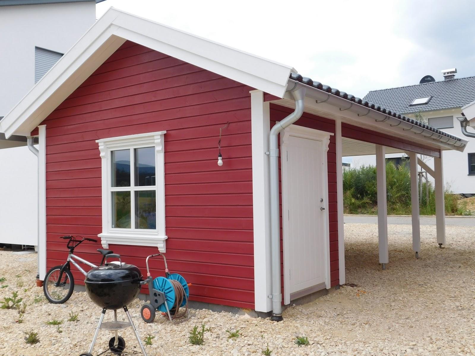 Unser Norge Hus: ... Unser Carport War Ohne Farbe Trist