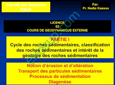 Cours Géodynamique externe S2