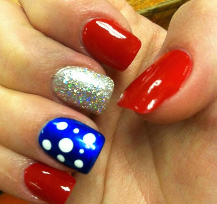july 4 nails art