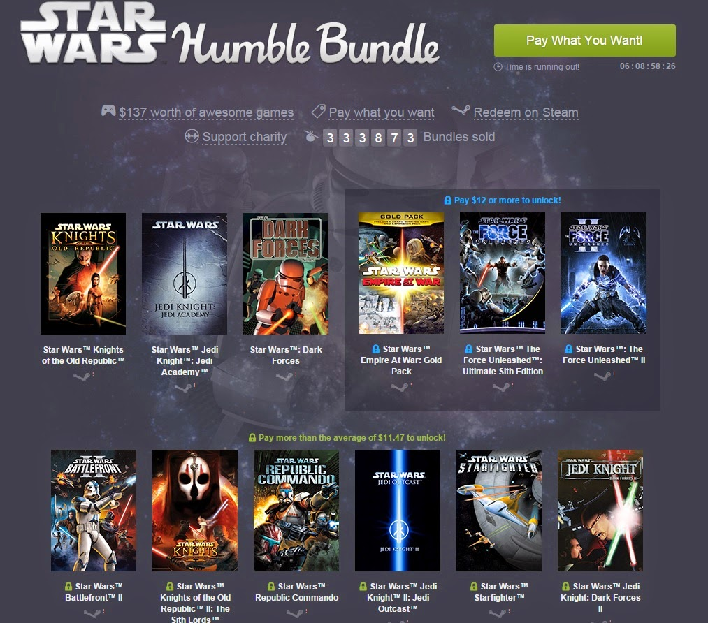 Humble Bundle de Star Wars