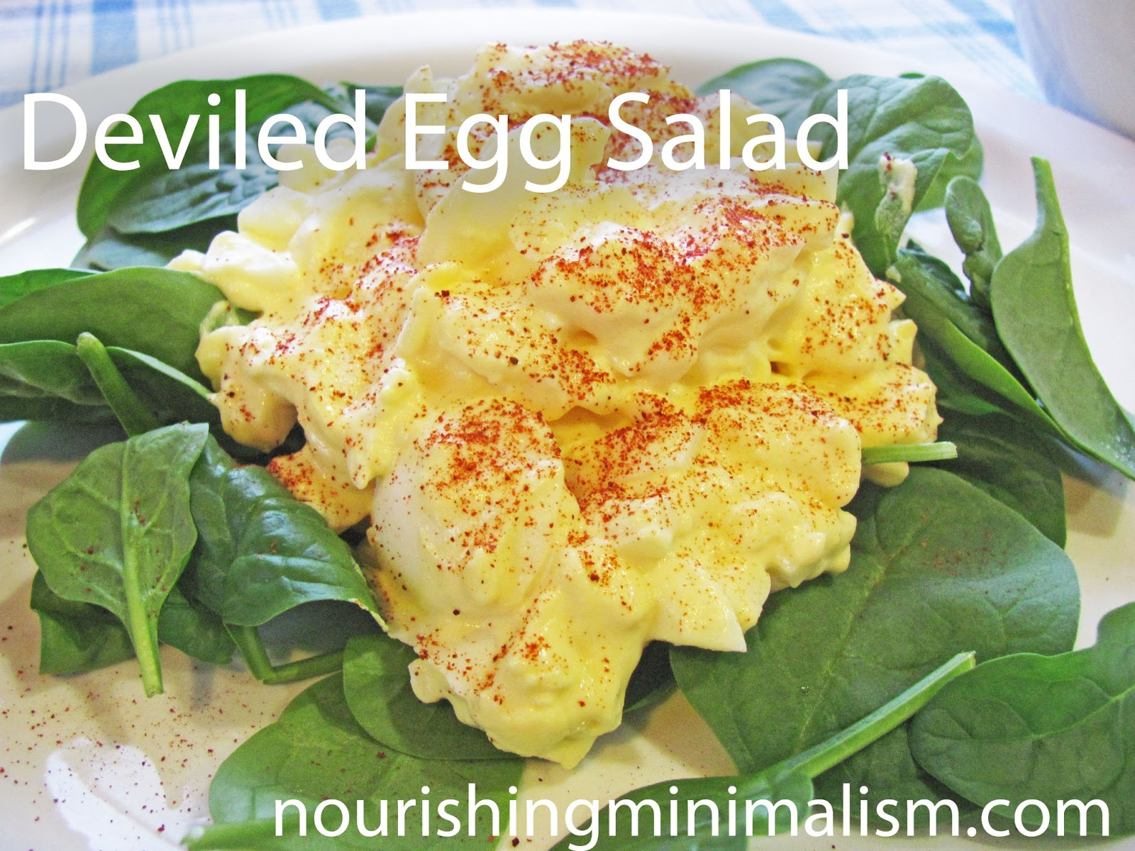 Deviled Egg Salad - nourishing minimalism
