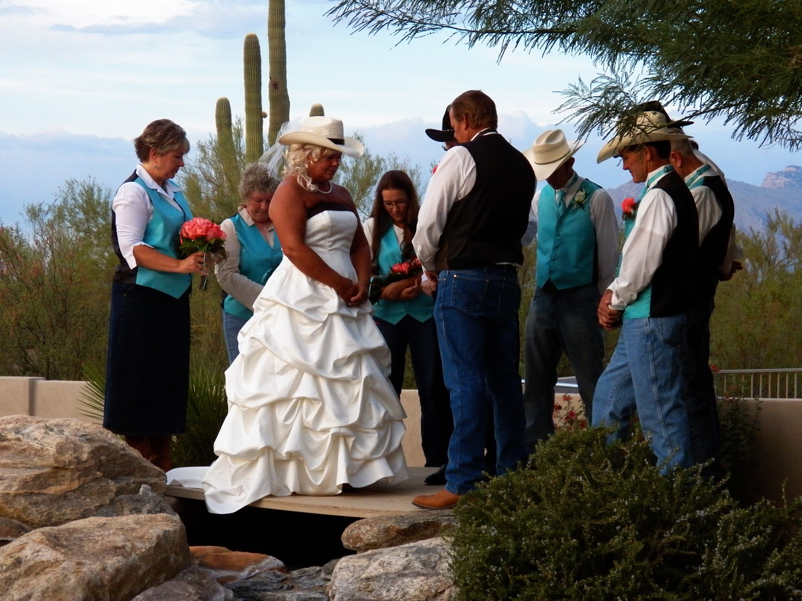 My aunt's country Western-themed wedding in Tucson, AZ