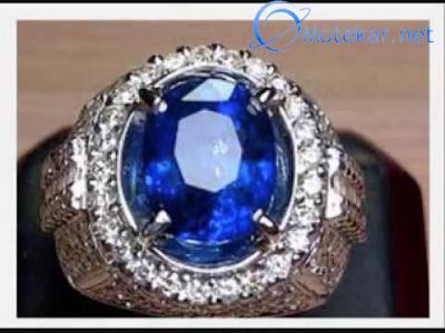 batu cincin blue safir, batu akik blue safir