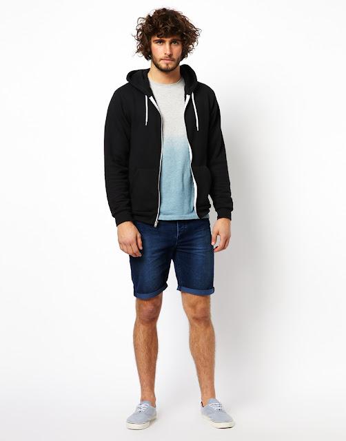 Pantalones cortos hombres denim