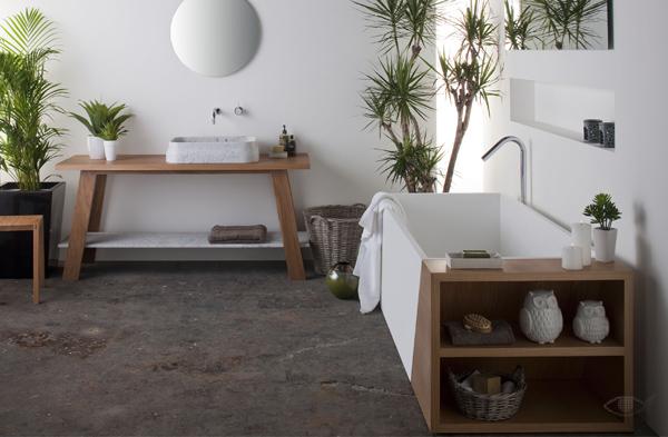 baños naturales - coleccion latis madera y suelo hormigon