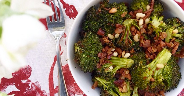 ... OUT DIET : Whole30 Recipe // Roasted Broccoli with Bacon and Pine Nuts