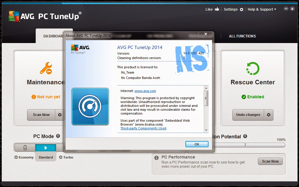 AVG PC TuneUp 2014 v14.0.1001.423 Full Patch