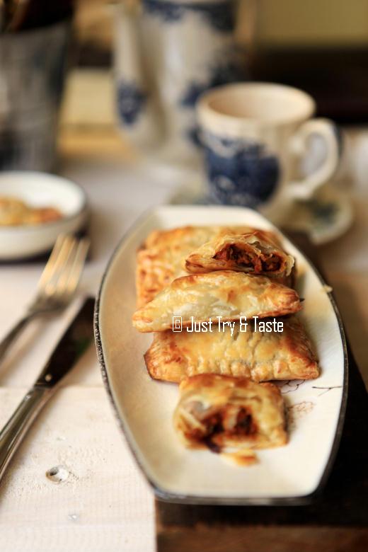 resep cara membuat pastel isi daging dari puff pastry instan