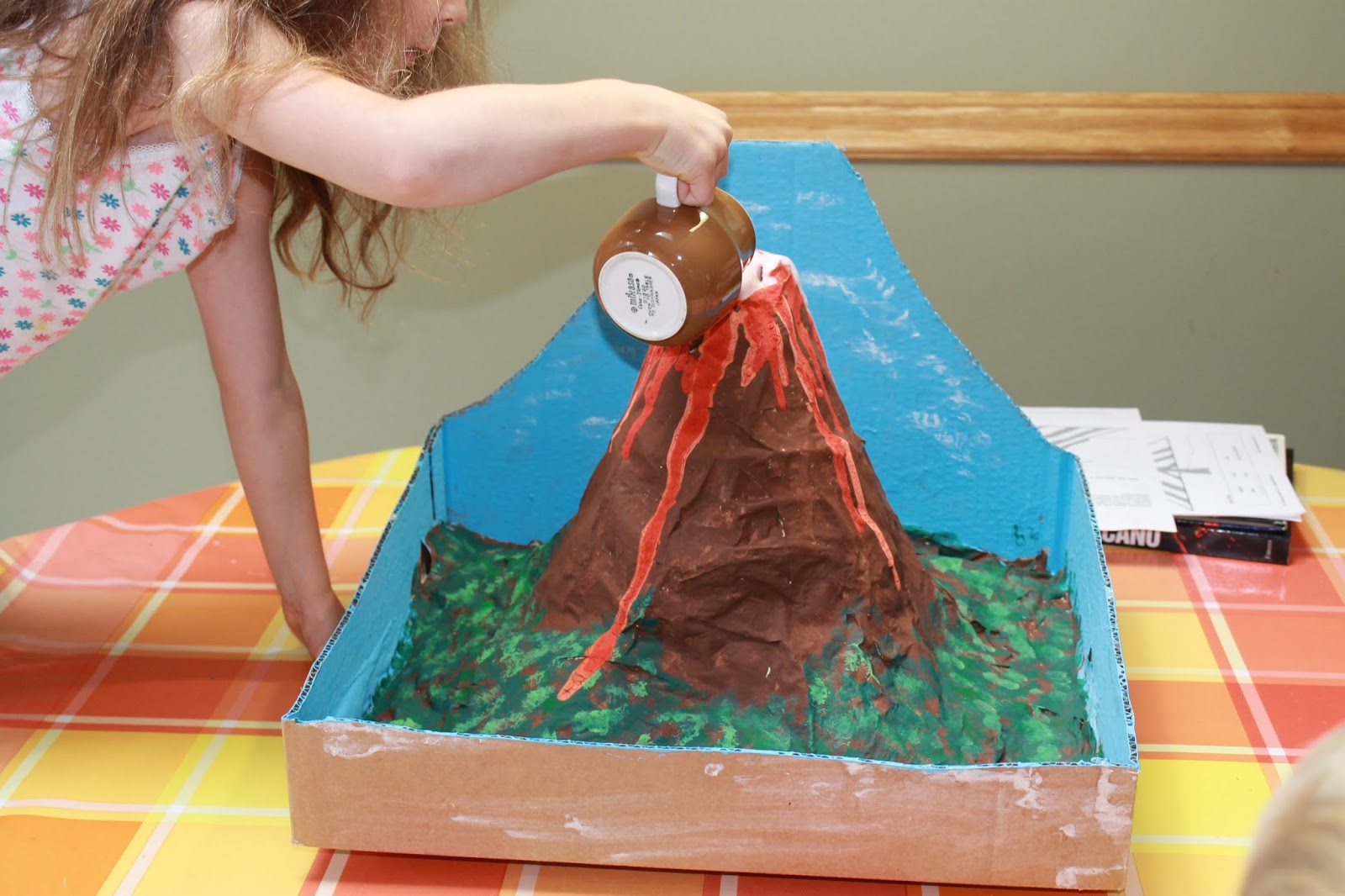 volcano project Model volcanoes are a staple of student science fairs they can also be a lot of fun for a summer family project making a model.