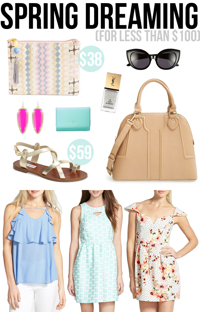 Spring items all for less than $100!