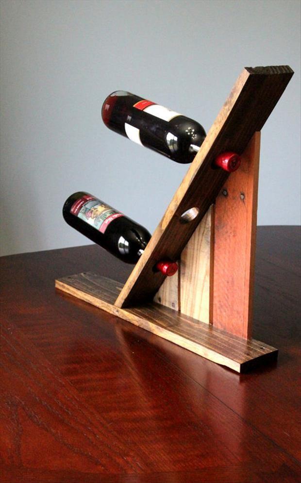Porta vinho pallet reutilize madeira