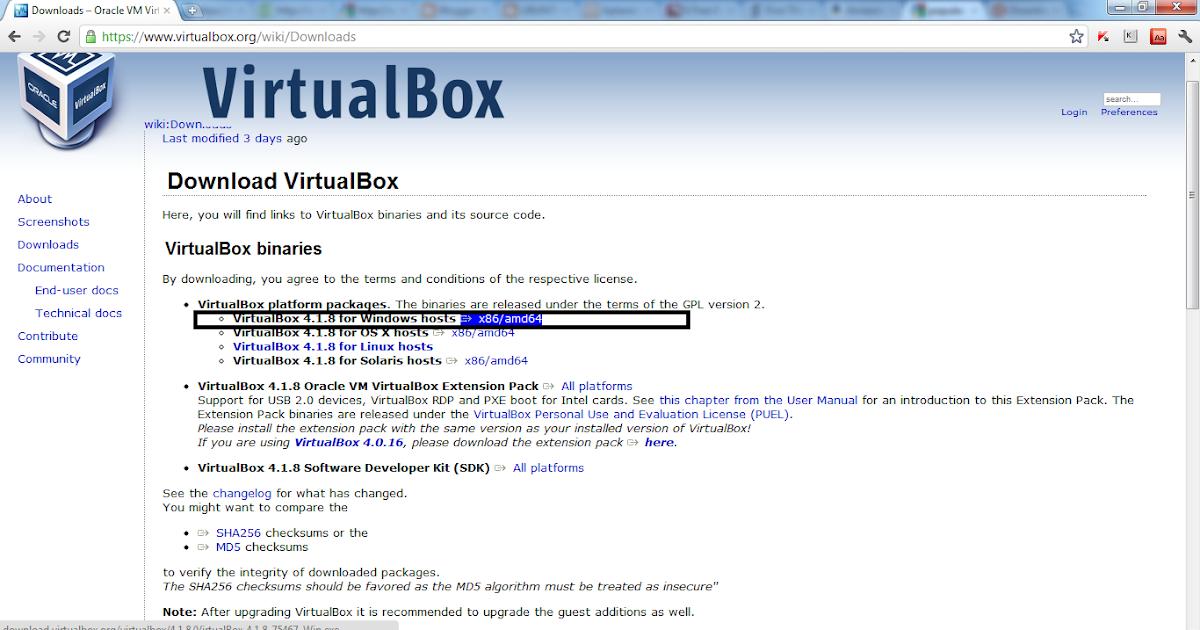 virtualbox windows machine