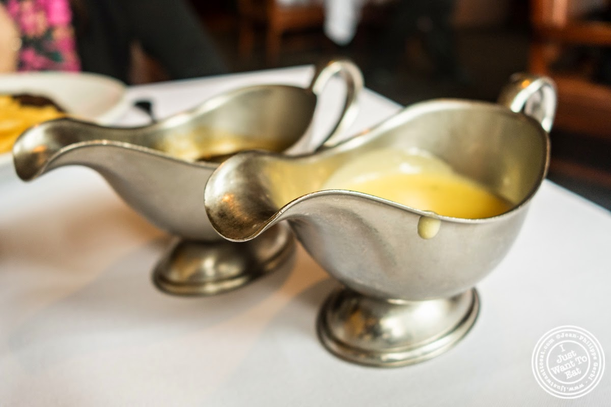 image of wine and béarnaise sauces at Porterhouse in New York, NY