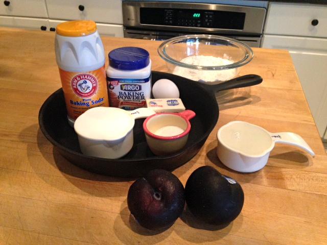 Rita's Recipes: Plum Skillet Cake