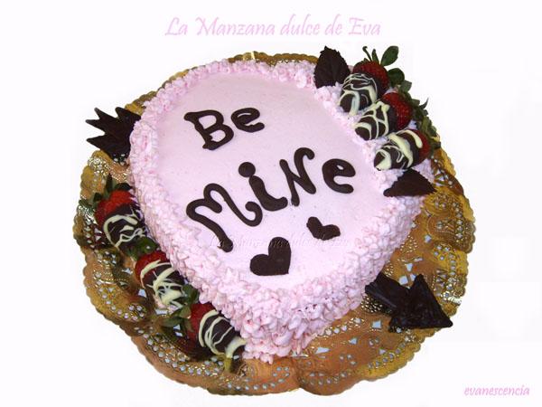tarta corazon para san valentin