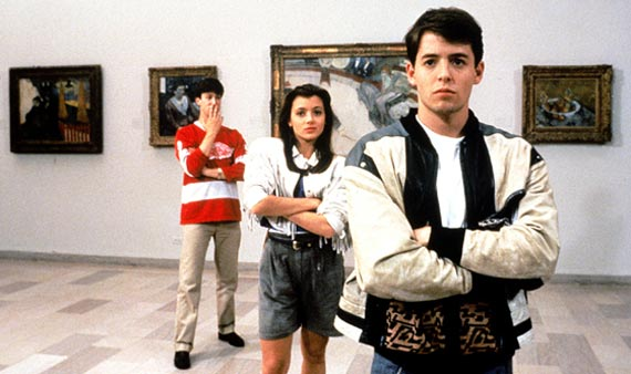 ferris buellers day off, art, painting, uk fashion blog, 80s movies