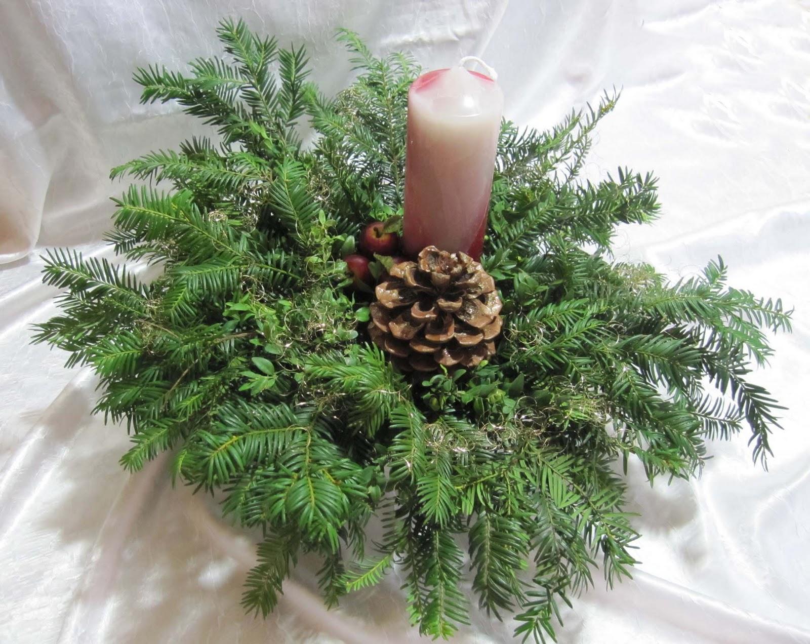 Kleines Fadenallerlei Weihnachtliche Gestecke
