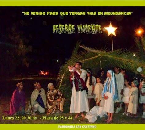 Pesebre Viviente en Plaza de 25 y 44!!!!