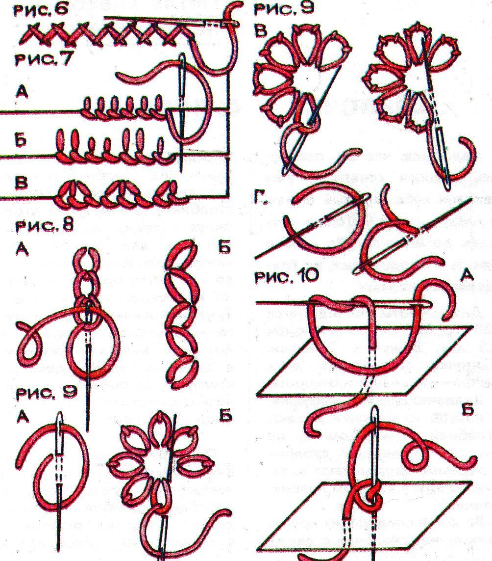Вышивка простыми швами схемы 47