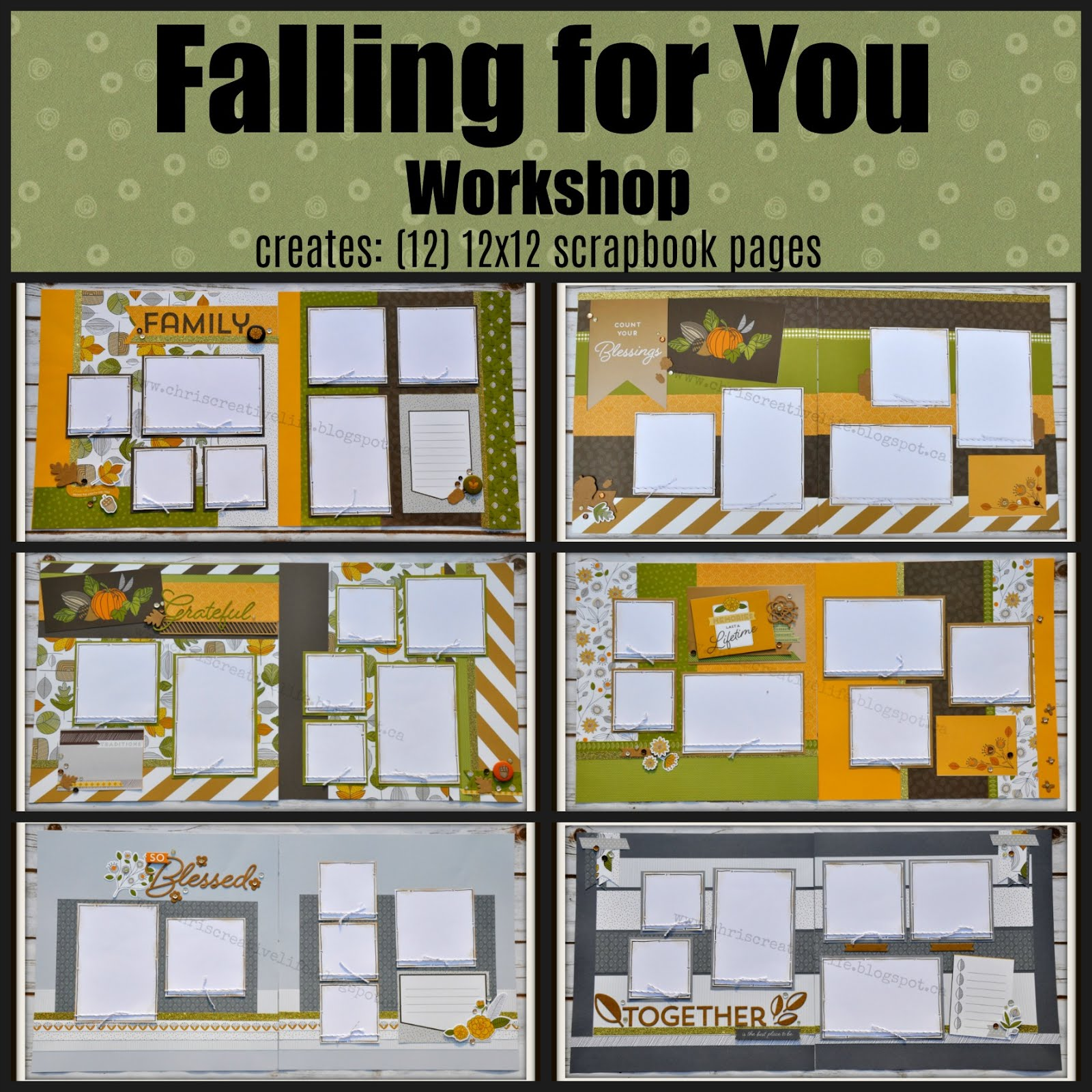 Falling for You Scrapbook Workshop
