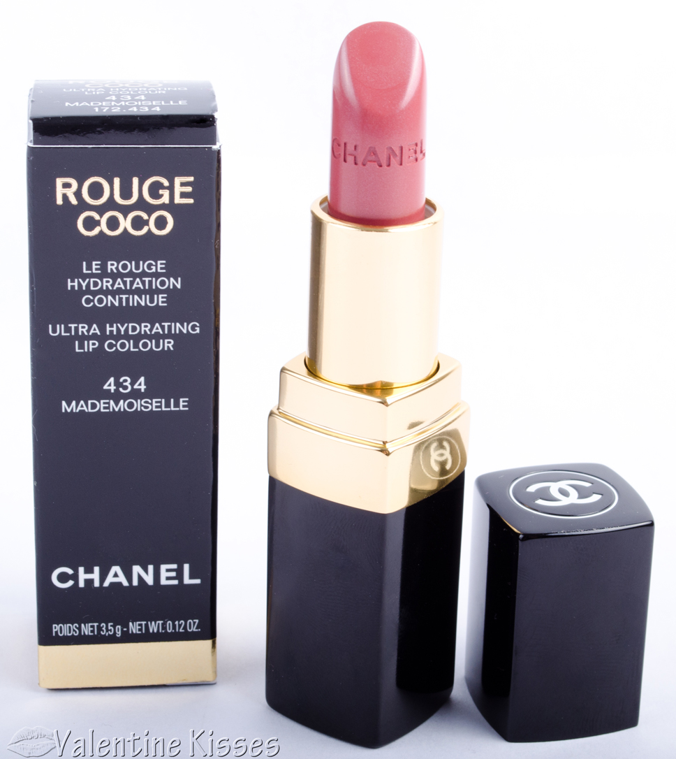 valentine kisses chanel rouge coco ultra hydrating lip colour in 434 mademoiselle. Black Bedroom Furniture Sets. Home Design Ideas
