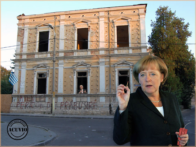 Funny photo Angela Merkel Georgios Papandreou