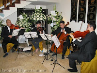 The String Quartet performing at the funeral