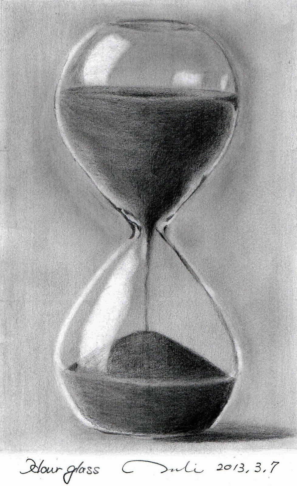 Life sand in the hourglass posted by pencil sketch gallery