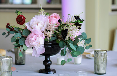 Saratoga Springs Wedding Flowers - Canfield Casino - Reception Decor - Table Centerpiece - Splendid Stems Floral Designs