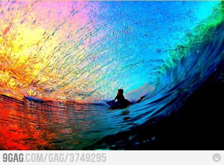 Photograph under sea wave