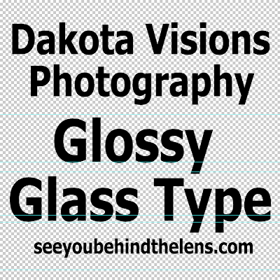 Step 1 - Text Effect Photoshop Tutorial: Glossy Glass Text | Tahoma #typography
