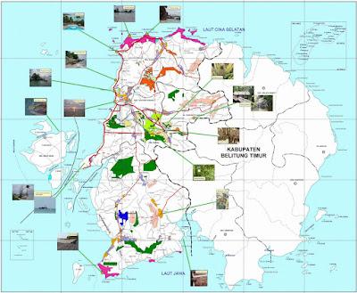 Peta Wisata Kabupaten Belitung