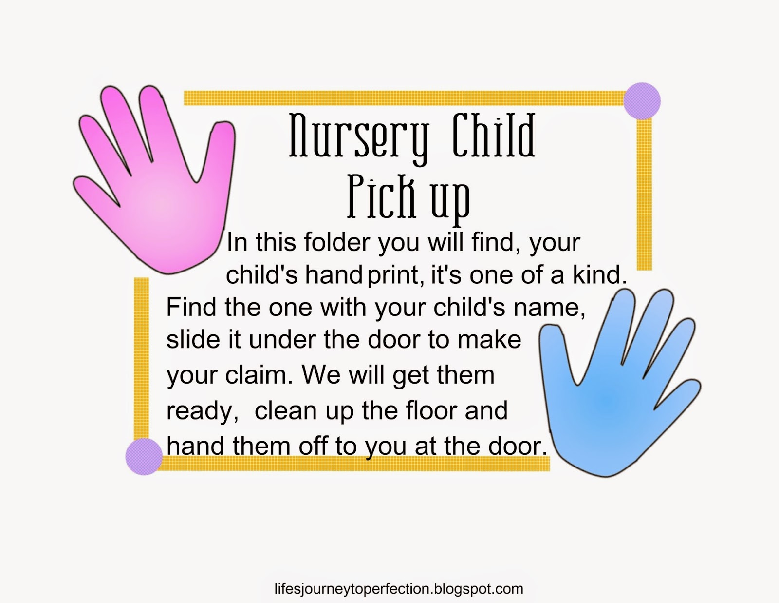 Preschool Door Signs Nursery Life S Journey To Perfection Fun Ideas And Printables